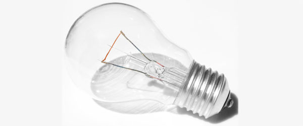Electric Light Bulb, or Lightbulb, Filament